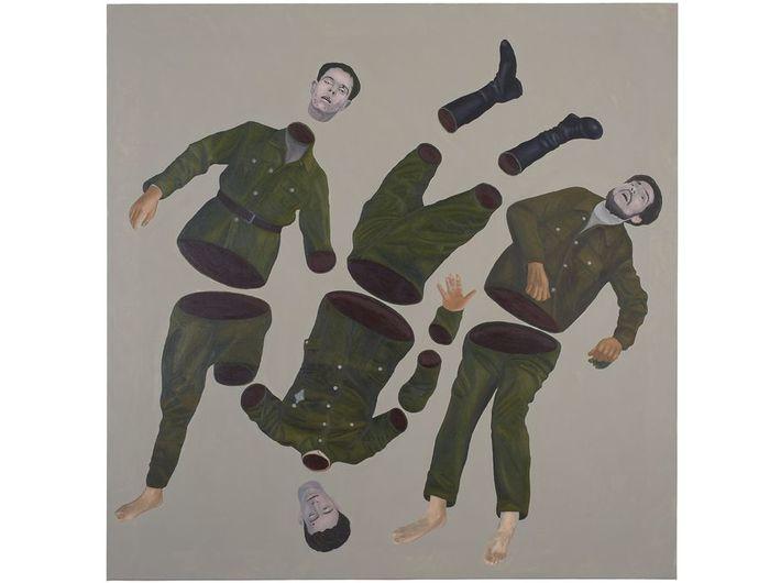 Ignacy Czwartos, //Fish//, from the series //Everybody Has Their Own Heroes//, 2018, oil / canvas, 200 × 200 cm, courtesy I. Czwartos
