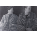 Halina Cader, bez tytułu, z cyklu //Chłopcy//, 1987, akryl, kredka / papier, 70 × 100 cm, courtesy H. Cader3