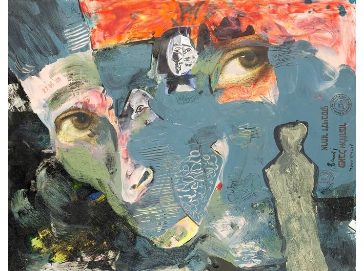 Paweł Althamer, Artur Żmijewski, bez tytułu, 2019, technika mieszana, 51 × 65 cm, courtesy P. Althamer / A. Żmijewski, Fundacja Galerii Foksal