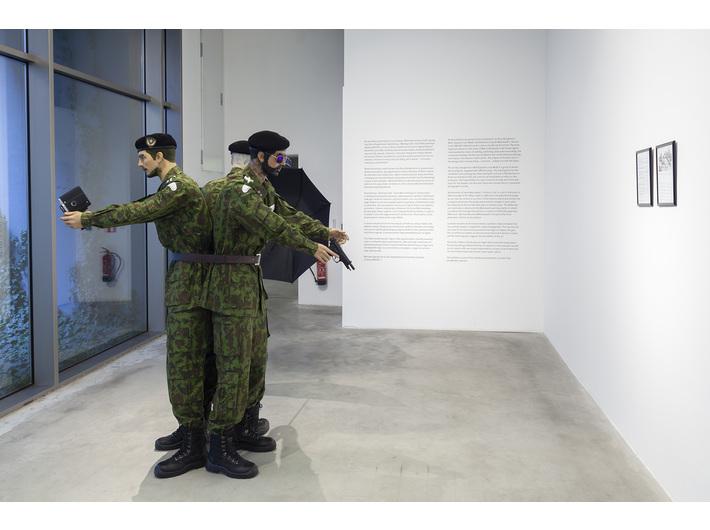 Marcin Berdyszak, //Wielorównaniowy model sprawy Iana Rossa Baughmana//, 2017, instalacja, 190 cm × ø 300 cm, courtesy M. Berdyszak, fot. R. Sosin