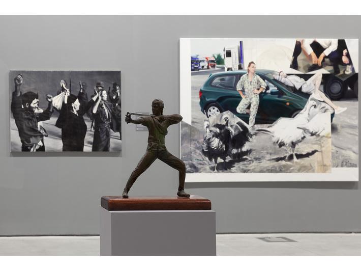 Widok z wystawy //Współczesne modele realizmu//, fot. R. Sosin