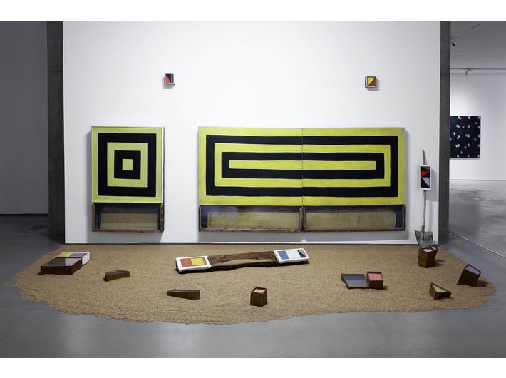 Piotr Lutyński, //Pole koloru//, 2020, instalacja, 380 × 590 × 500 cm, courtesy P. Lutyński, fot. R. Sosin