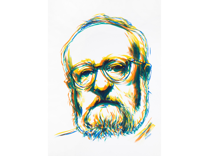 Bartek Materka, bez tytułu, 2020, olej / papier, 70 × 50 cm, courtesy B. Materka