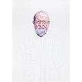 Beata Stankiewicz, //Krzysztof Penderecki//, 2020–2021, oil, water marker / canvas, 100 × 70 cm, MOCAK Collection922