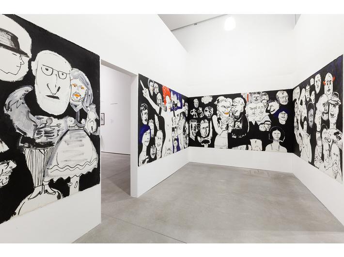 Edward Dwurnik, //Krakusypokażtacomata//, 2005, instalacja malarska / olej, akryl, płótno, Kolekcja MOCAK–u