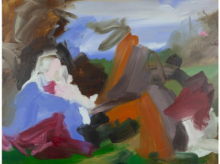 Elise Ansel, //Przeczucie II//, 2013, olej / płótno, 76,5 × 102 cm, Kolekcja MOCAK-u