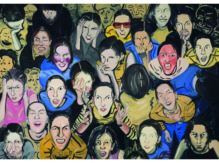 Pola Dwurnik, //Mercy!//, 2008/2009, oil / canvas, 150 × 210 cm, MOCAK Collection