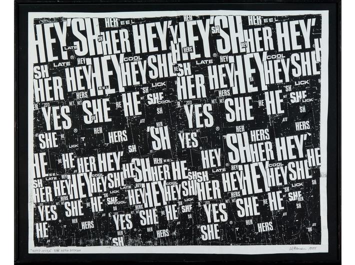 Al Hansen, //Word Opera//, 1995, kolaż, 37,5 × 46 cm, Kolekcja MOCAK-u