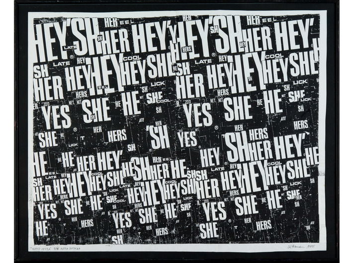 Al Hansen, //Word Opera//, 1995, collage, 37,5 × 46 cm, MOCAK Collection