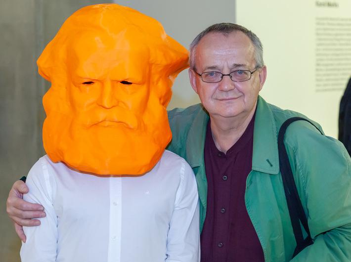 Otwarcie wystawy Krzysztofa M. Bednarskiego //Karol Marks vs Moby Dick. Analiza formy i rozbiórka idei//, MOCAK, 25.10.2018, fot. R. Sosin