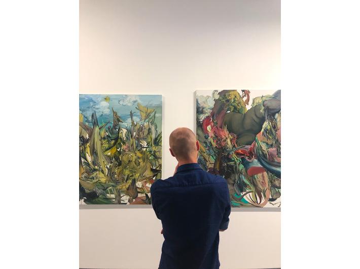 Wystawa //Sztuka karmi sztukę//, widoczne prace Kamila Kukli, fot. Dział Promocji, MOCAK