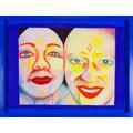 EVA & ADELE, z serii //Polaroid Diary – Watercolor//, 1992-1993, akwarela / papier czerpany, Kolekcja MOCAK-u2