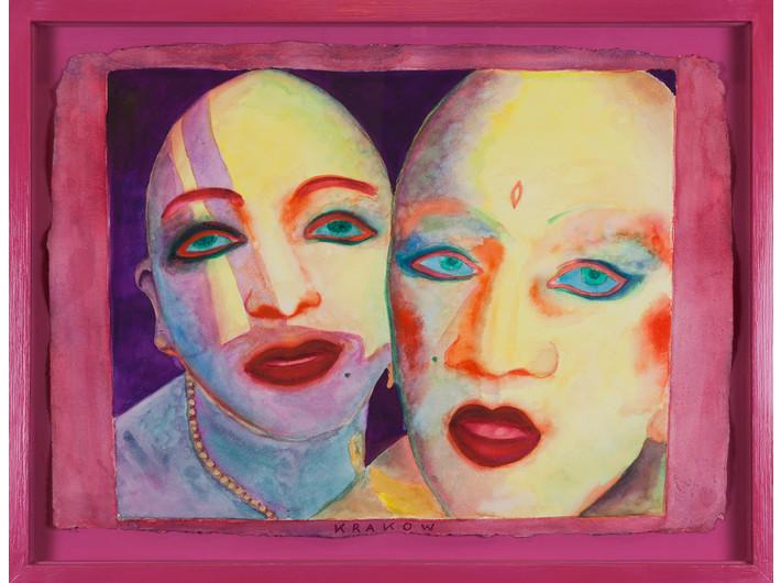 EVA & ADELE, z serii //Polaroid Diary – Watercolor//, 1992-1993, akwarela / papier czerpany, Kolekcja MOCAK-u