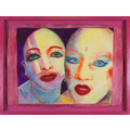 EVA & ADELE, from the series //Polaroid Diary – Watercolor//, 1992-1993, watercolor / paper, MOCAK Collection945