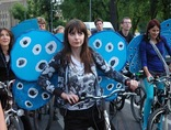 Alcon Blues on bicycles, Krakow 2011, photo: Modraszek Kolektyw5