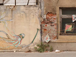 Mikołaj Rejs, //You Said You Could Let It Go//, mural produced during a street art workshop. September 2011, photo: Rafał Sosin1