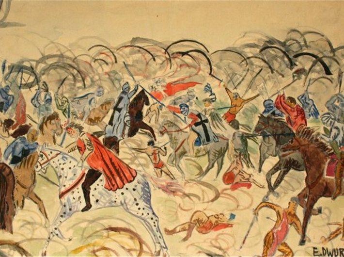 Edward Dwurnik, Bitwa pod Grunwaldem, 1957