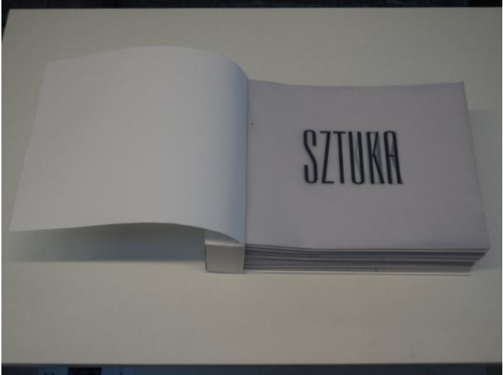 Anna Askaldowicz, SZTUKA!, książka artystyczna, 2012