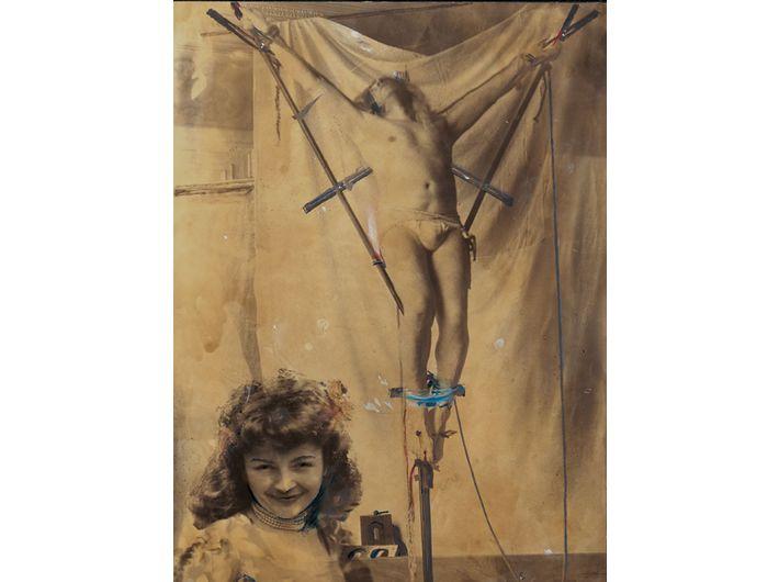 Ghislain Dussart, //Bez tytułu//, lata 60. Technika mieszana, 38,5 x 29 cm Dzięki uprzejmości Michael Fuchs Galerie GmbH
