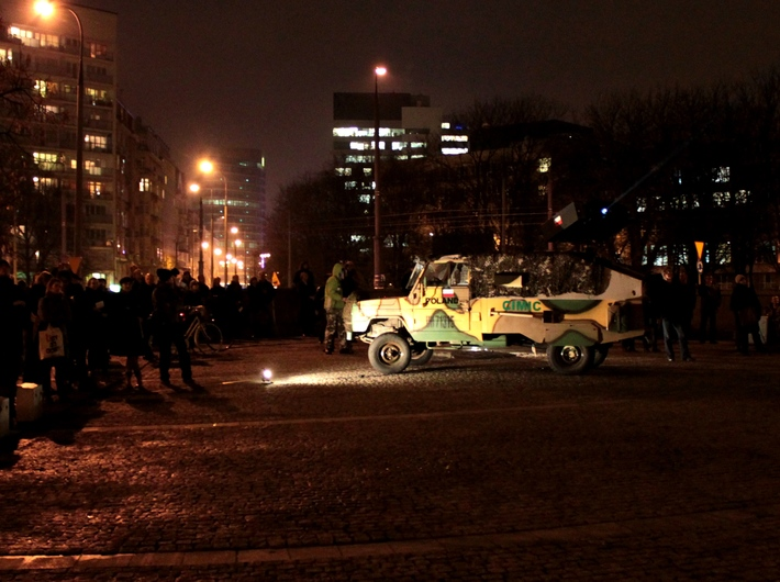 //The War Veteran Projection//, Warsaw, 10.11.2012. Courtesy of Profil Foundation