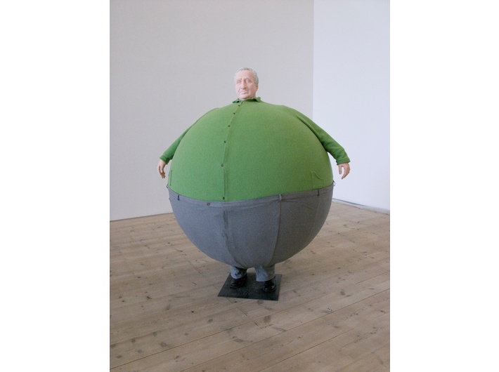 Erwin Wurm, //The Artist Who Swallowed the World//, 2006, mixed media sculpture, 190 × 140 × 140 cm