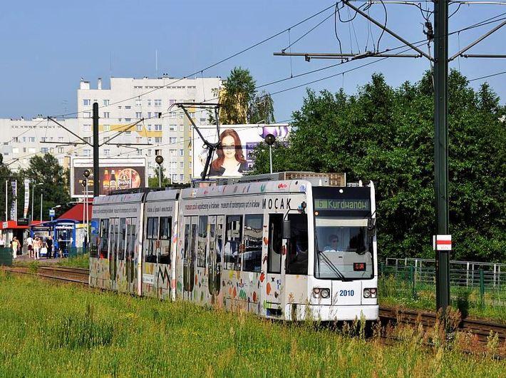 An MPK tram with a MOCAK advertisement, // Painter's Palette by Tomasz Ciecierski// - 3