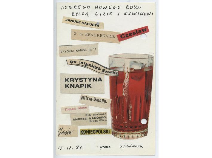 Wisława Szymborska, to Gizela Szancerowa, 1986, MOCAK Archive