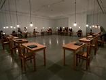 Pierwsi zwiedzający w MOCAK-u Jochen Gerz, Exit projekt Dachau, 1972, instalacja15