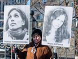 A picket line in favour of freeing Nadezhda Tolokonnikova and Maria Alyokhina, 8.3.2013, Moscow © elvistudio / Shutterstock.com2