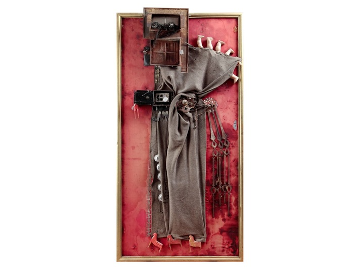 Władysław Hasior, //Judas//, 1963, assemblage, 185 × 94 cm, private collection