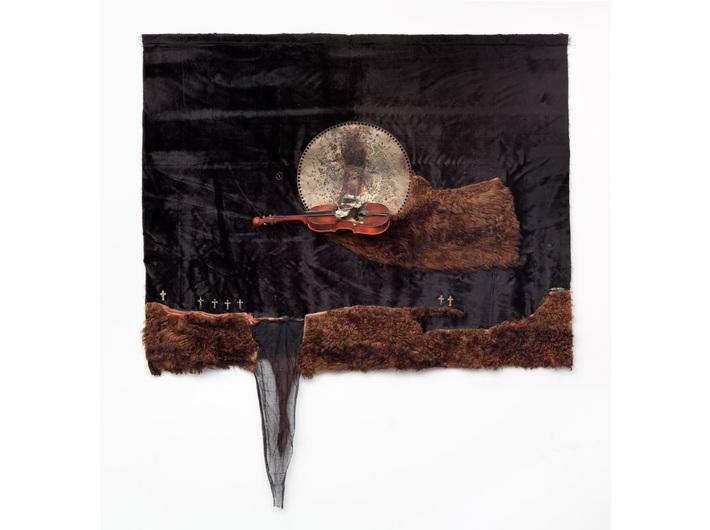 Władysław Hasior, //Sonata księżycowa//, 1966, asamblaż, 165 × 115 × 18 cm, Galeria Starmach